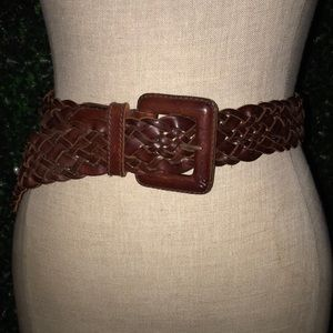 Ann Taylor genuine braided leather belt